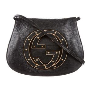 Authentic GUCCI Blondie Studded cross body bag